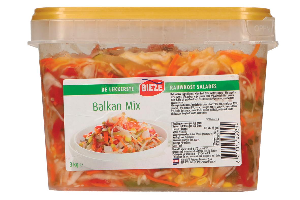 Bieze rauwkost salades Balkan mix