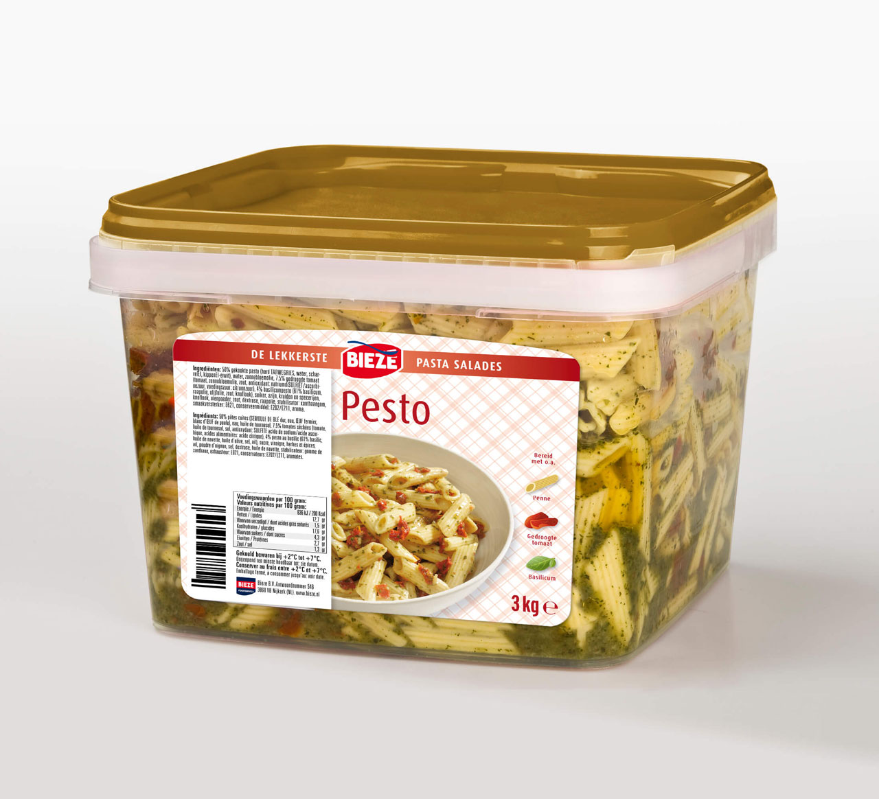 Bieze pasta salade pesto