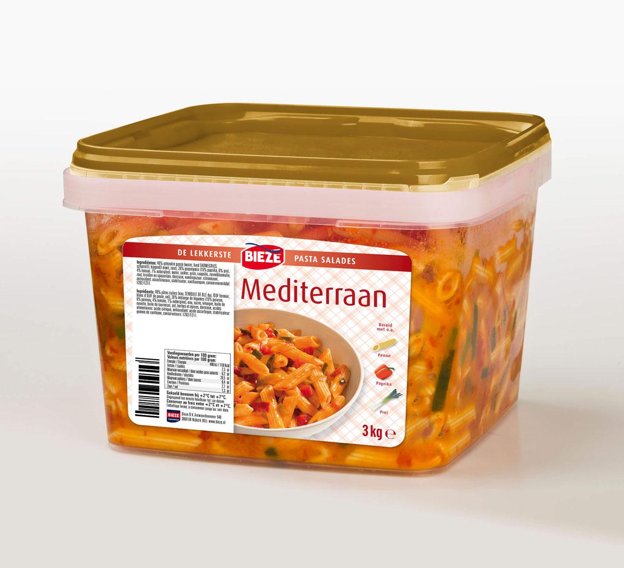 Bieze pastasalade Mediterraan